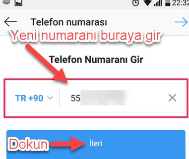 instagram telefon numarası değiştirme resimli anlatım