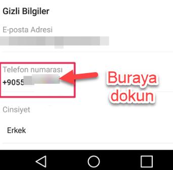 instagramda telefon numarası nasıl değiştirilir