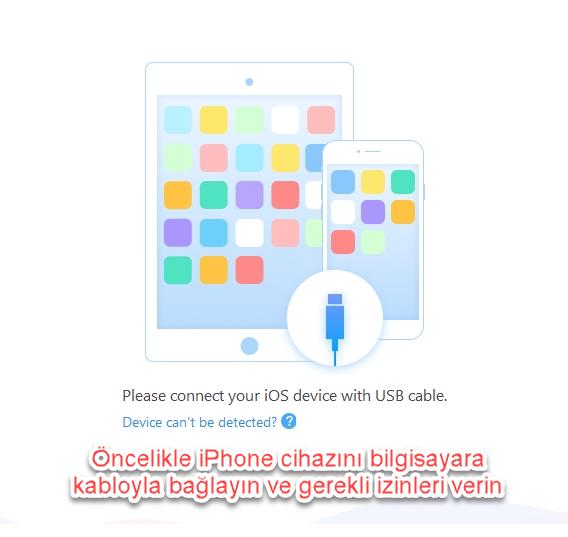 iphone bilgisayara yedekleme bağlantı ve izinler