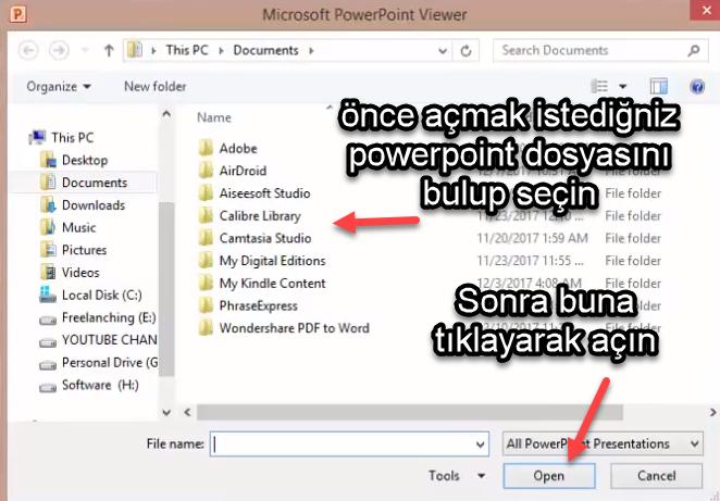 powerpoint viewer nasıl çalışır resimli anlatım