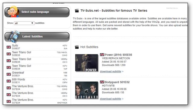 tvsubs-tv-subtitles