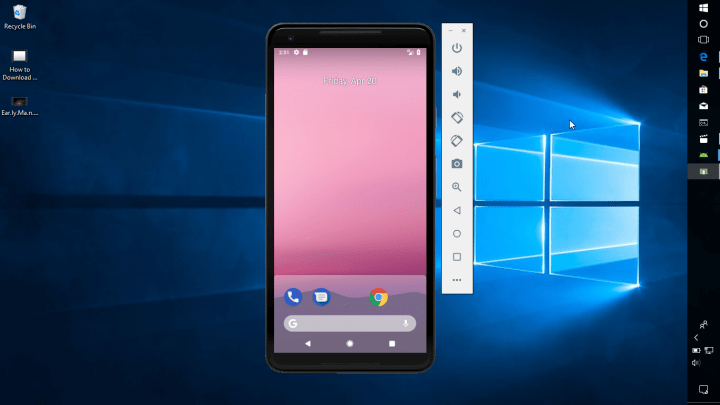 Android Pie on Windows 10