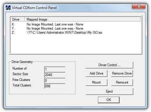 Microsoft Virtual CD ROM control panel ile ilgili görsel sonucu