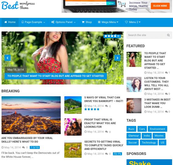 Default demo of fast WordPress theme Best